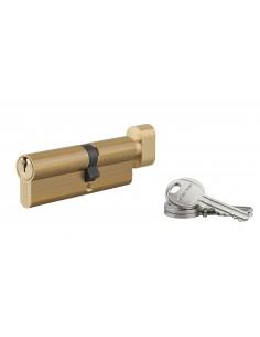 Cylindre à bouton 40 x 50 mm 3 clés laiton