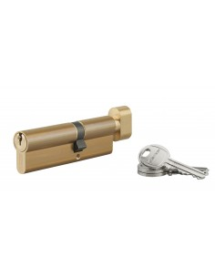 Cylindre à bouton 40 x 55 mm 3 clés laiton