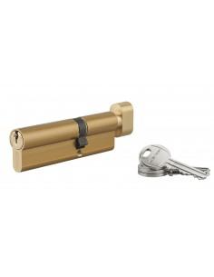 Cylindre à bouton 40 x 60 mm 3 clés laiton