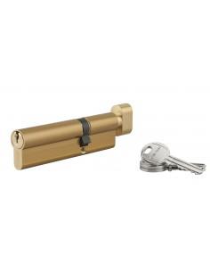 Cylindre à bouton 40 x 70 mm 3 clés laiton