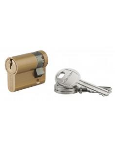 Cylindre profile hg 30 x 10 mm 3 clés laiton panneton orientable