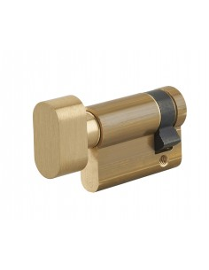Demi cylindre à bouton 35 x 10 mm laiton