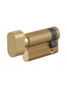 Demi cylindre à bouton 40 x 10 mm laiton