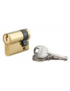 Demi-cylindre 30 x 10 mm 3 clés avec vis de 50 mm laitonné