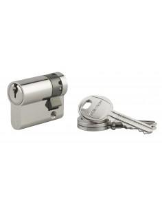 Demi-cylindre 30 x 10 mm 3 clés panneton orientable nickelé