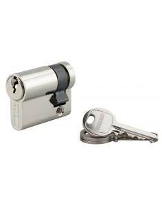 Demi-cylindre 30 x 10 mm nickelé 3 clés