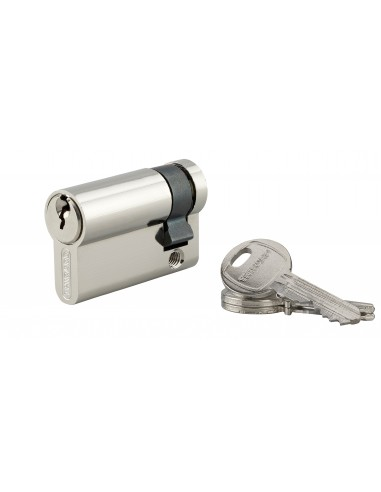 Demi-cylindre 45 x 10 mm 3 clés nickelé