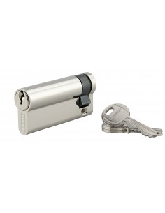 Demi-cylindre 60 x 10 mm 3 clés nickelé