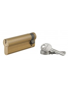 Demi-cylindre 70 x 10 mm 3 clés laiton