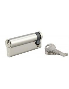 Demi-cylindre 80 x 10 mm 3 clés nickelé