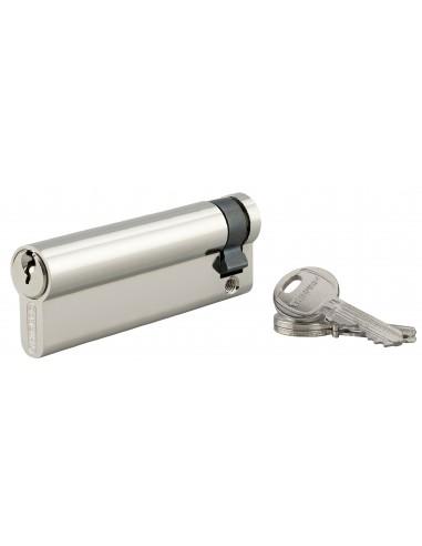 Demi-cylindre 90 x 10 mm 3 clés nickelé
