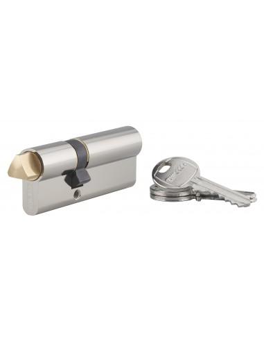 Cylindre profile hg 30x50 triangle externe 14 côté 30 3 clés nickelé