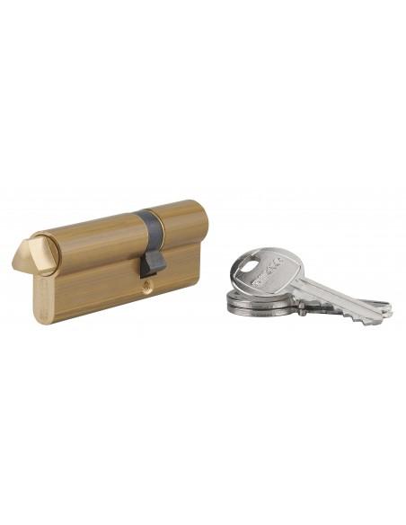 Cylindre profile hg 30x50 triangle externe 14 côté 50 3 clés laiton