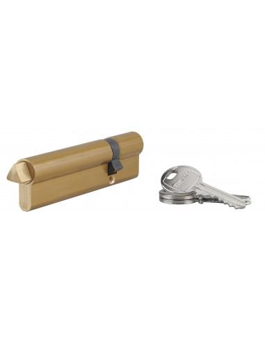 Cylindre profile hg 30x80 triangle externe 14 côté 80 3 clés laiton