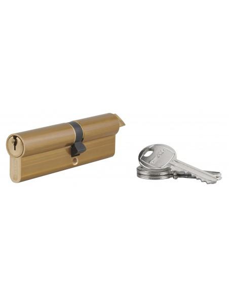 Cylindre profile hg 45x55 triangle externe 14 côté 45 3 clés laiton